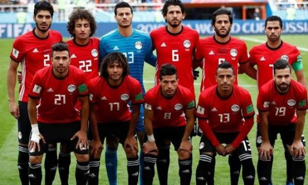 File - Egypt national team during their participation in the 2018 FIFA World Cup