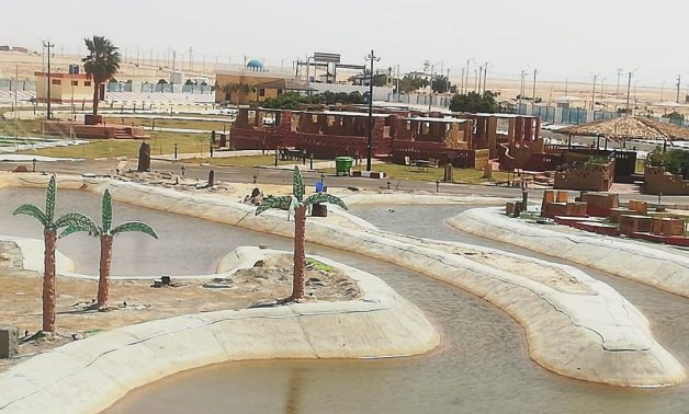 Kharga Airport's Park turns into artistic piece