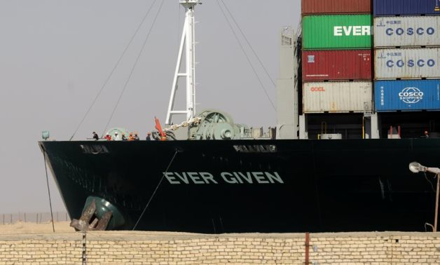 Ship Ever Given, one of the world's largest container ships, is seen after it was fully floated in Suez Canal, Egypt March 29, 2021 - Reuters