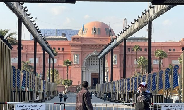 The Egyptian Museum is decorated in preparation for the Golden Parade/Egypt Today-Samar Samir.