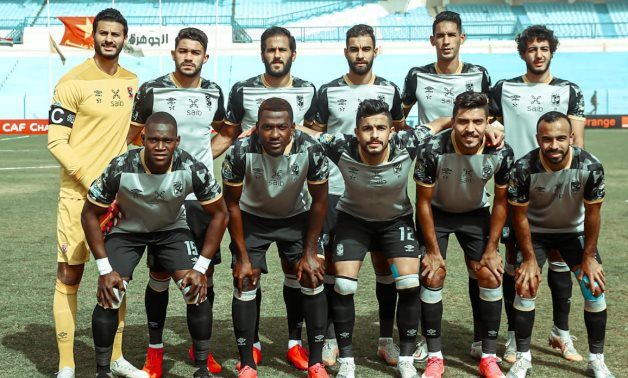 File- Al Ahly team pose before the game