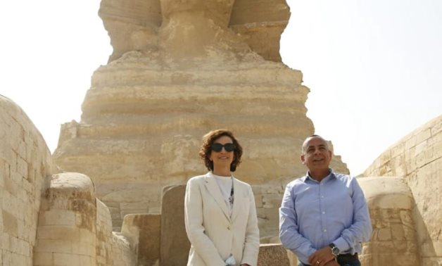 File: Mrs. Audrey Azoulay, Director-General of UNESCO and Dr.Mostafa Waziri.