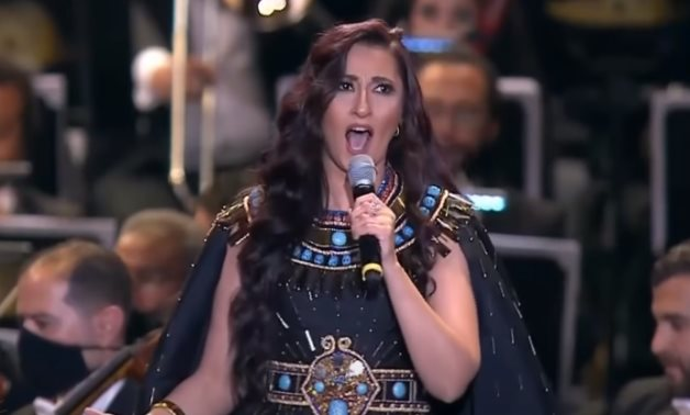 Soprano Amira Selim sings Reverence for Isis at the Golden Parade on April 3, 2021 - Youtube still