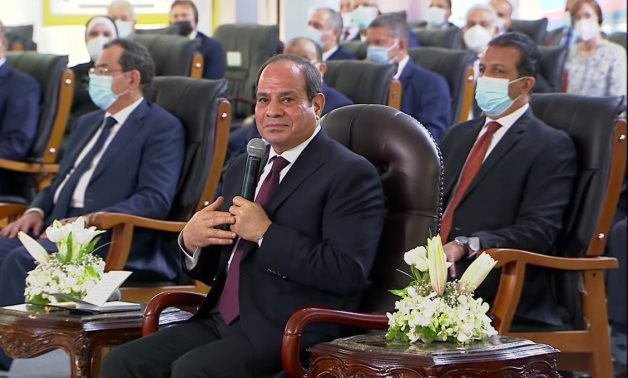 Egypt's President Abdel Fattah El-Sisi gives a speech while inaugurating the secured and smart documents complex – Presidency