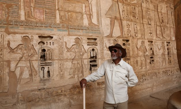 Morgan Freeman in Egypt - Official Twitter