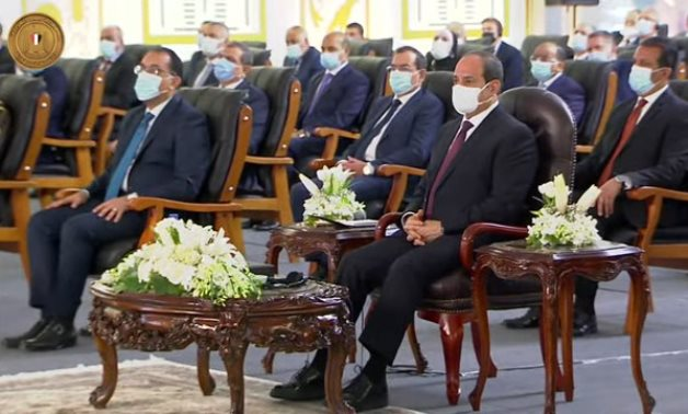 Egypt's President Abdel Fattah El-Sisi attends the inauguration ceremony of the secured and smart documents complex - Screenshot/Presidency