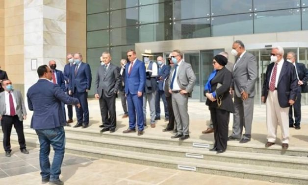 The ambassadors of European countries and Canada to Egypt tour the New Administrative Capital on April 7, 2021. Press Photo