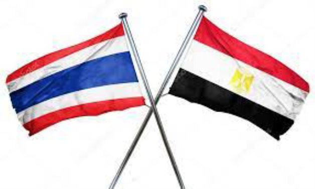 Flags of Egypt and Thailand - Wikipedia commons