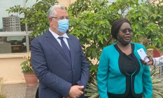 Egyptian Minister of Agriculture Assayed al-Qasir and his South Sudanese counterpart Josephine Joseph - Press photo