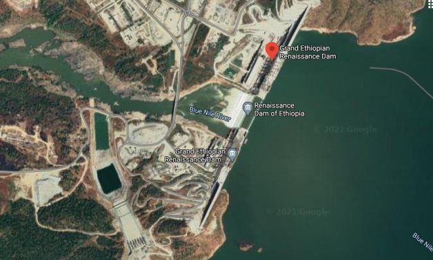 A Google satellite image for the controversial Grand Ethiopian Renaissance Dam (GERD)- Egypt Today