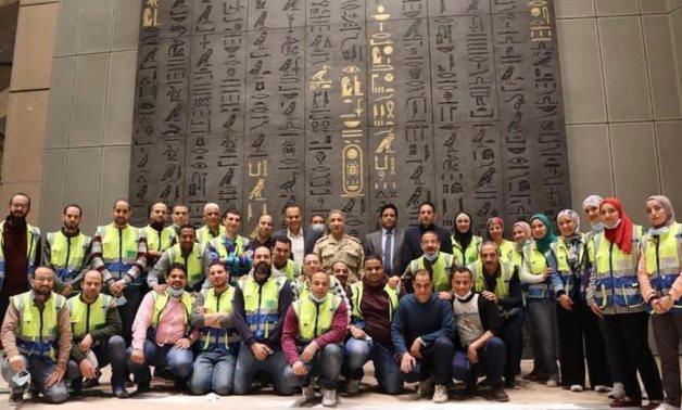 Tutankhamun Halls working team in GEM - Press photo