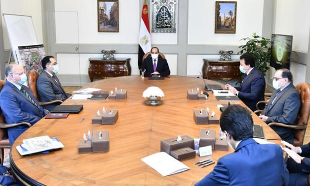President Sisi meets with Cabinet ministers- Press photo