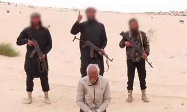 Still image from IS's execution video of Nabil Habashy Salama on April 18, 2021