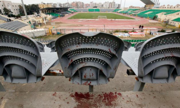 Blood in Port Said Stadium after the massacre that took place in 2012 - ET