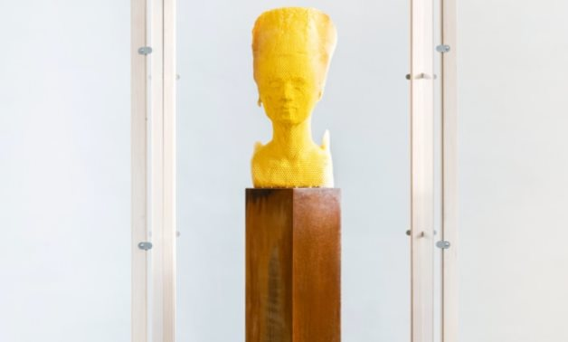 Nefertiti's honey statue - social media
