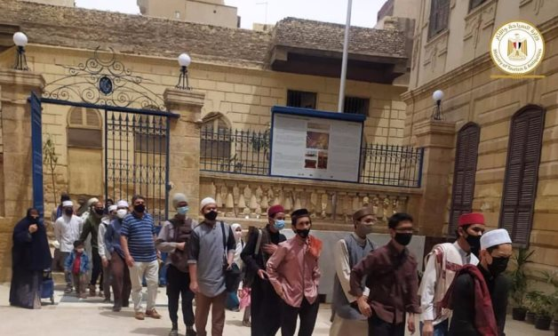 File: Hundreds of Egyptian and foreign visitors flock to the Dome of Al Imam Al Shafie's
