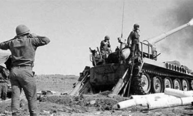 Photo from Egypt's War of Attrition against Israeli troops that occupied Sinai peninsula in the last century