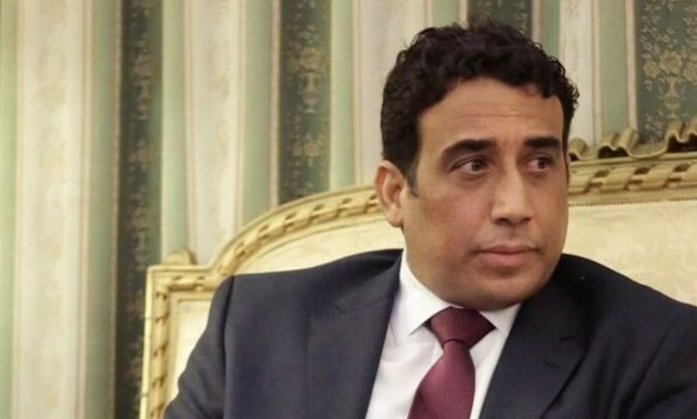 FILE PHOTO: The president of the Libyan Presidential Council, Muhammad Al-Manfi