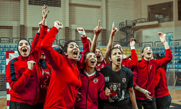 File- Al Ahly ladies celebrate the title, Courtesy of Al Ahly official website