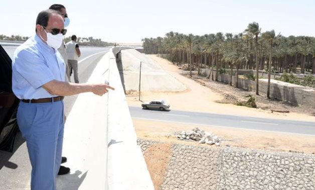 Egyptian President Abdel Fattah El Sisi makes an inspection tour of construction projects in Cairo – Presidency
