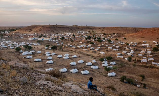An overview of Umm Rakouba refugee camp, which is housing people who fled the conflict in the Tigray, located in Qadarif, eastern Sudan. Nariman El-Mofty/AP