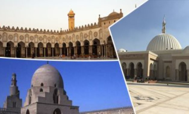 Compiled photo of Al-Azhar Mosque