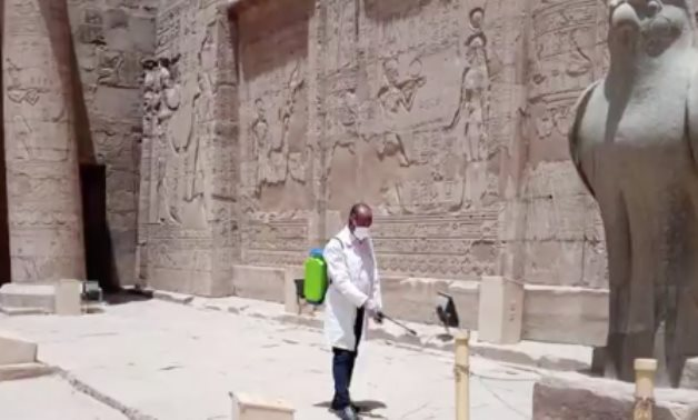 Sanitization works continue in Egypts museums, archaeological sites - Min. of Tourism & Antiquities