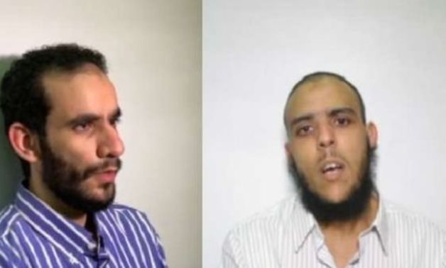 File: The terrorists Mahmoud Imam Negm and Mohamed Hany Qablan.