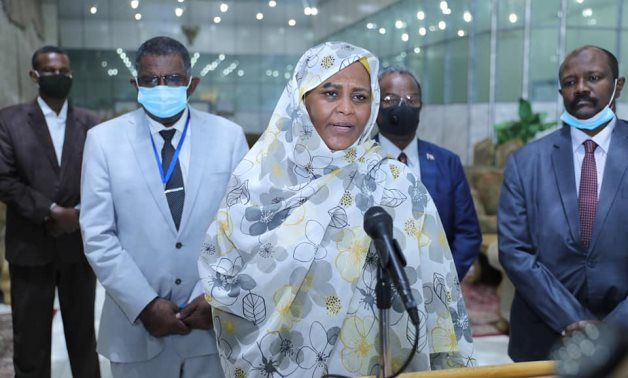 Sudan's Foreign Minister Mariam Al-Sadiq speaks on Saturday in the wake of a meeting with Congolese President Felix Tshisekedi – Sudan's transitional council