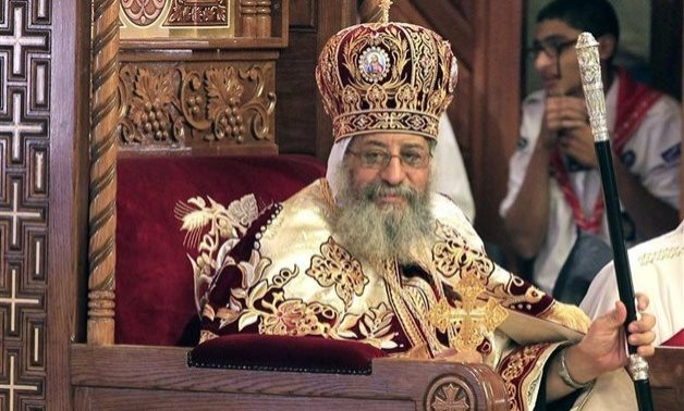 Pope Tawadros II leads the Christmas mass in the new Administrative Capital, January 2018 – Egypt Today
