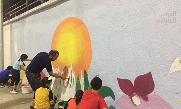 Initiative converts Ismailia streets into art pieces