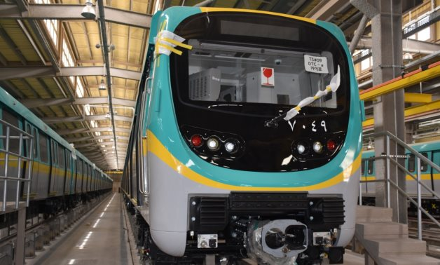 Metro train delivered by Hyundai Rotem to Egypt in May 2021. Press Photo