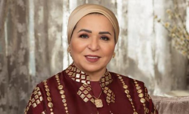 FILE - Egyptian First Lady Intissar al-Sisi