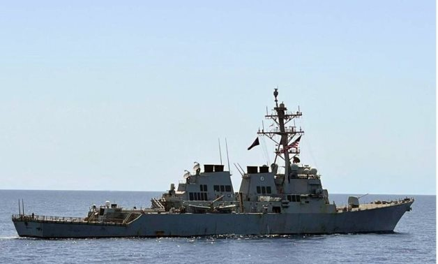 frigate Taba and US's destroyer USS MAHAN, USCGC ROBERT GOLDMAN and USCGC CHARLES MOULTHROPE cutters conducted a transit exercise in the southern fleet region in the Red Sea- press photo
