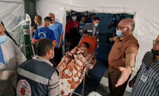 Palestinian man injured during Israeli air raids - FILE