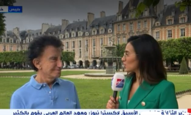File: Jack Lang during his interview with Extra News channel.