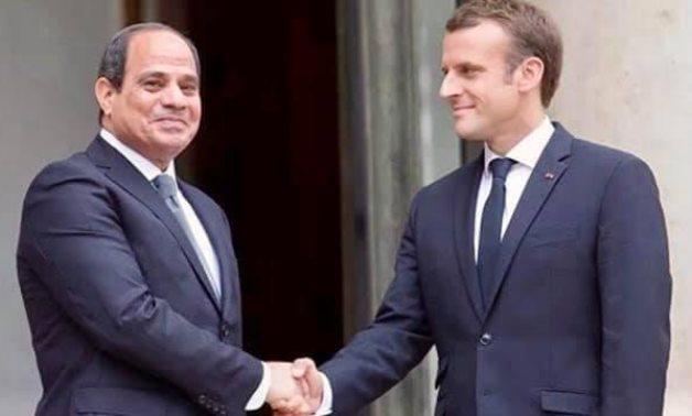 FILE - President Abdel Fatah al-Sisi and French President Emanuel Macron in Paris, France. Press Photo
