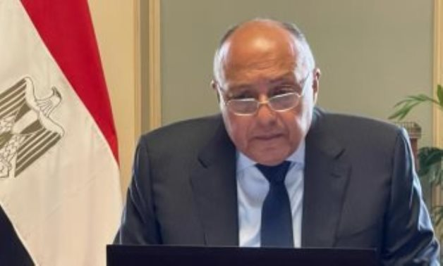 FILE - Minister of Foreign Affairs Sameh Shokry