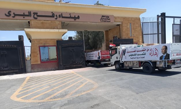Egypt sends 65 tons of medical aids to Gaza Strip as Israeli bombings continue