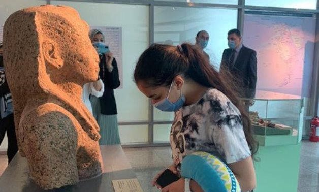 One of the first visitors to the Airport Museum - Min. of Tourism & Antiquities