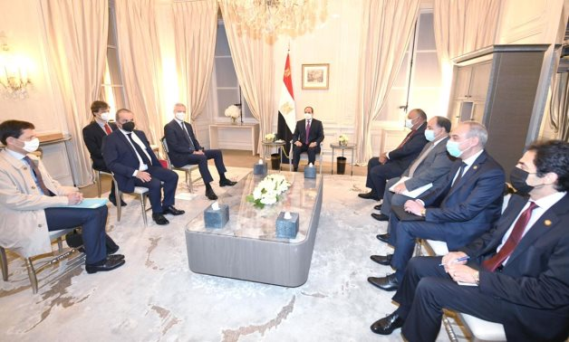 President Abdel Fatah al-Sissi during his meeting with French Minister of Economy and Finance Bruno Le Maire - Press photo