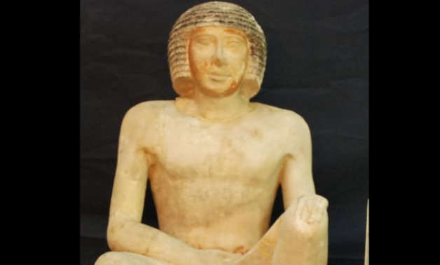 Painted limestone statue of Niankhre II - Min. of Tourism & Antiquities