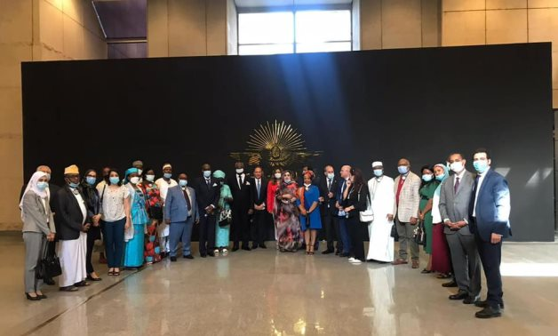 African ambassadors' visit to Museum of Egyptian Civilization on May 25, 2021 on the occasion of Africa Day. Press Photo