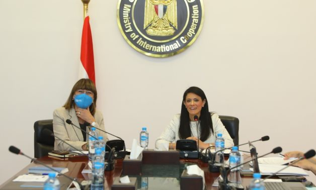 Minister of International Cooperation, Rania A. Al-Mashat, and Elena Panova, United Nations Resident Coordinator in Egypt