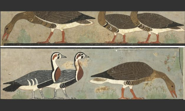 The ancient Egyptian geese fresco - ET