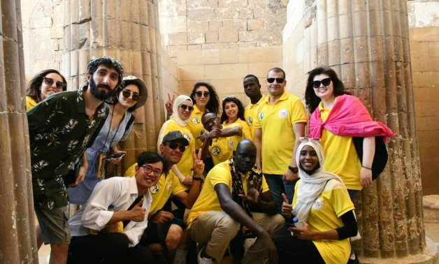 Participants in the Nasser Fellowship for International Leadership visited on Friday the pyramids of Giza and Saqqara to learn about the ancient Pharaonic civilization.