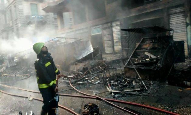 Incêndio com bombeiro