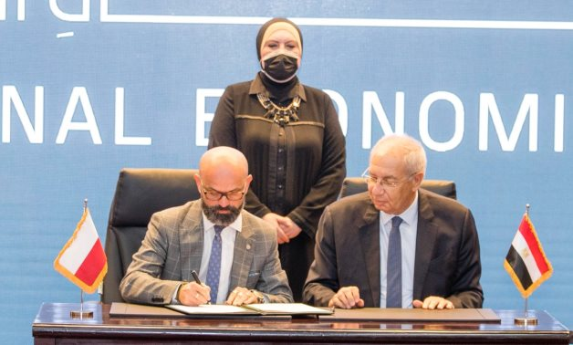 During the signing ceremony- Press photo