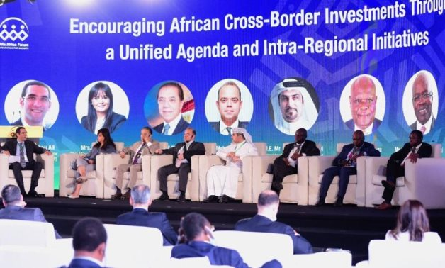Panel in IPAs Africa Forum 1 including Chairman of the African Affairs Committee at Egypt's House of Representatives Sherif El-Gabali on June 12, 2021. Press Photo