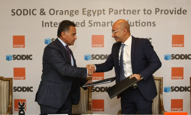 Eng. Yasser Shaker, CEO and Managing Director of Orange Egypt, and Eng. Magued Sherif, Managing Director of SODIC